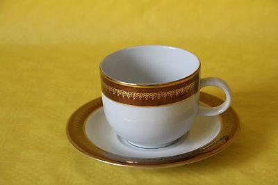 Kaffeegedeck Tasse & Untere Porzellan KAHLA Golddekor Kaffeetasse