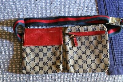 Rare Vintage Gucci GG Canvas Waist Bum Bag 28566 200047