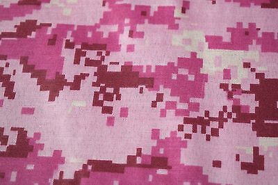 "Quilt Fabric Pink Digital Camouflage Print Craft Apparel Upholstery 45""W #9959P"