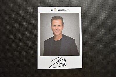 Oliver Bierhoff, Deutschland, Manager, aktuelle Autogrammkarte (AK) handsigniert