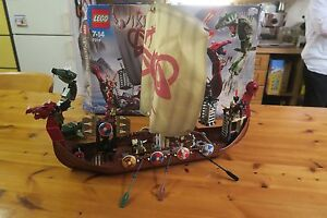 Lego 7018 'VIKING SHIP challenges the Midgard Serpent' 100% Complete in Box