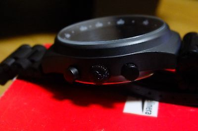 Orfina Porsche design PVD Black chronograph case and bracelet NOS Lemania 5100