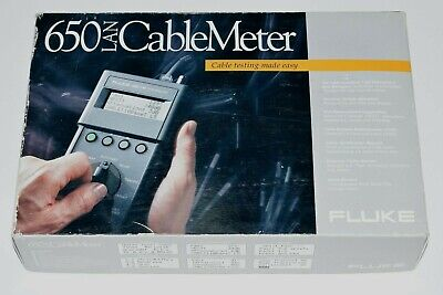 Fluke 650 Lan Local Area Network Cable Meter Ethernet Fault Tester Accessories