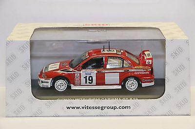 Mitsubishi Carisma GT #19, Radstrom 2001 Swedish Rally, Skid SKM204 Diecast 1/43