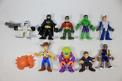 LOT of 9 Fisher-Price Imaginext Figures Star Wars Toy Story Batman...