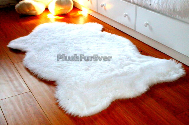 3 X 5 Top Seller Faux Fur Rug Nursery White Fur Baby Sheepskin
