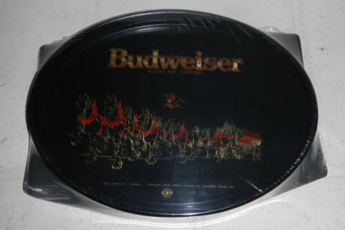 Vintage NEW Sealed 1991 Anheuser Busch Budweiser Beer Clydesdale Serving Tray