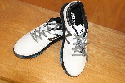 New Balance Men's Minimus Tour Golf Shoe White/Black NBG1007WK Size 8.5 Medium