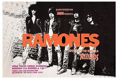 Punk: The Ramones * Rocket To Russia * Concert Poster UK 1977  13x19