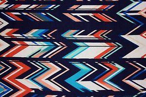 Multicolor Chevron Jersey Knit Print #110 Rayon Modal Spandex Lycra Fabric BTY