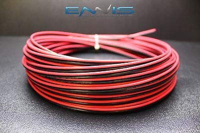16 GAUGE 100 FT RED BLACK ZIP WIRE AWG CABLE POWER STRANDED COPPER CLAD EE