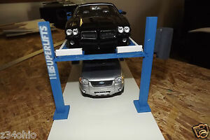 Diorama 1 24 1 25 scale 4 post car lift for your work shop garage