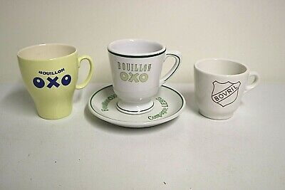 "VINTAGE. Lot TASSES "" BOUILLON OXO / BOVRIL """