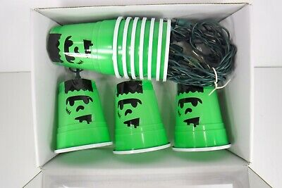 Solo Cup Lights (Halloween Party Solo Cup String Lights Frankenstein Monster)