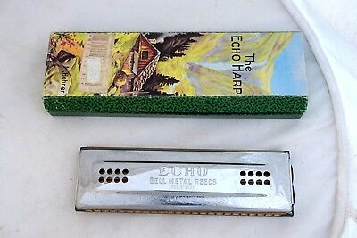 German M.Hohner Echo HARP Harmonica key 56/96 CG 96 Stimmen for sale  Shipping to United States