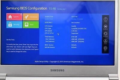 """Samsung NP900X3L 13.3"""" Notebook 9 Intel i5-6200U  8GB RAM  No  SSD"""