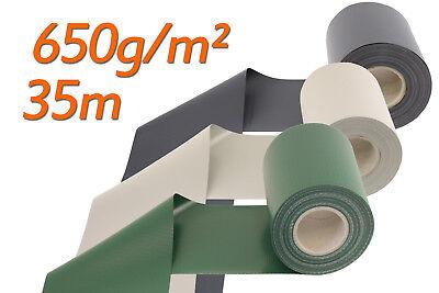 Sichtschutzstreifen Doppelstabmattenzaun matt 650g/qm Zaunfolie Zaun Sichtschutz - Grüne Dicke Streifen