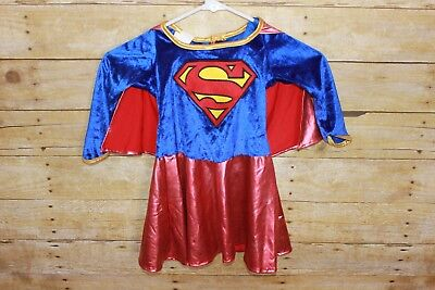 Supergirl Rubie's Toddler Child Costume Small Attached Cape Metallic Foil Red (Costume Supergirl)
