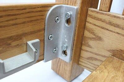 Headboard Brackets (No Mortise Bed Rail Brackets / Fittings HeadBoard/FootBoard bed rail USA MADE )