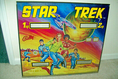 RARE 1978 Bally STAR TREK Arcade Pinball Machine Backglass - Prototype Version!