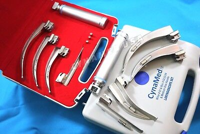 German 5 Laryngoscope Macintosh Mac Miller Intubation Blades Anesthesiahandle