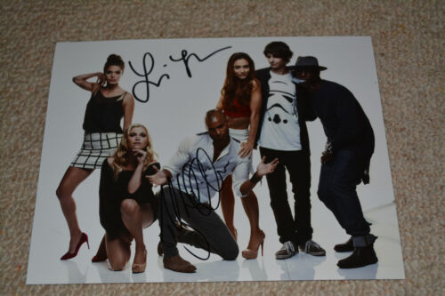 RICKY WHITTLE & LINDSEY MORGAN signed  Autogramm 20x25  In Person THE 100