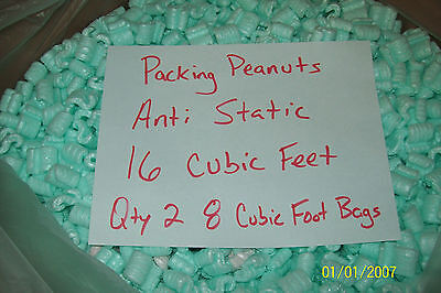Packing Peanuts Loose Fill Anti Static Green 16 Cubic Feet120 Gallons Brand New