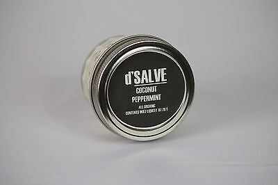 4 oz Coconut Oil Peppermint Handcrafted Organic Moisturizer BEST SELLER