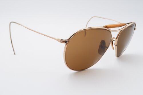 American Optical AO FULVUE Aviator Sunglasses 1/10 12K GF Gold Cable Temple E348