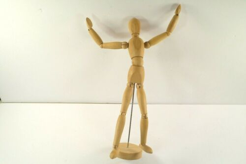 "Cool Ikea Gestalta Wooden Mannequin 13"" Tall  Articulated Joints Great Condition"