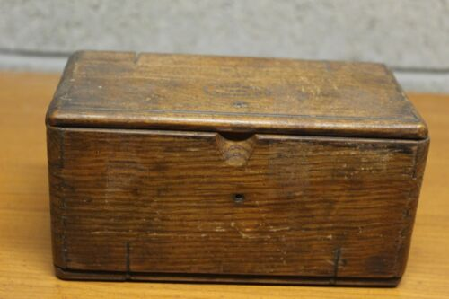 Antique Folding Wooden Box with Sewing Machine Parts Singer?