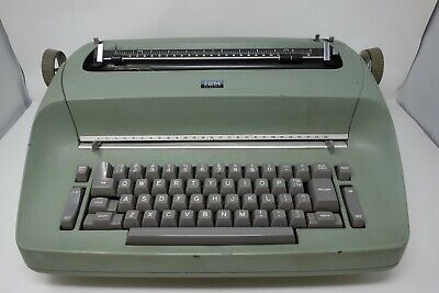 Ibm Selectric Electric Typewriter Model 72 Green Parts Or Repair Four Font Heads