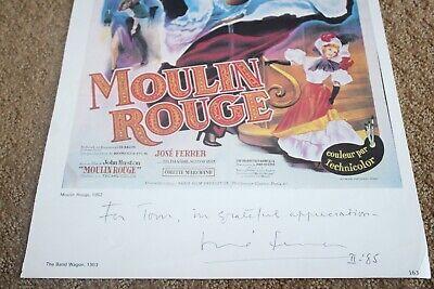 José Ferrer SIGNED AUTOGRAPH MOULIN ROUGE LOBBY CARD PHOTO PHOTOGRAPH