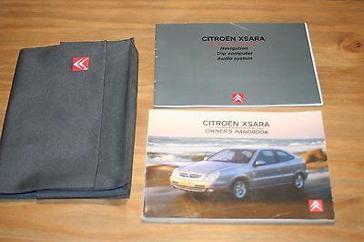 CITROEN XSARA OWNERS HANDBOOK MANUAL 2002-2005 PRINT 11/2003 + WALLET AUDIO MANU