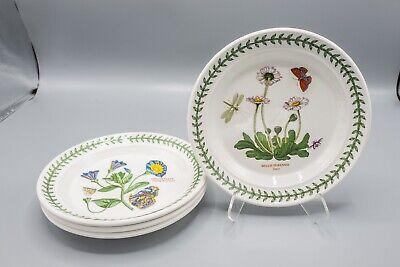 "Portmeirion Botanic Garden Bread Plates Set of 4- 7 1/4"" D FREE USA SHIPPING"