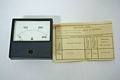0-300a Dc 1.5 Russian M42300 Ammeter Current Meter Amp Analog Panel Meter.