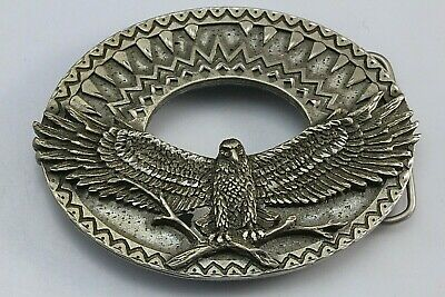 Legends West Southwestern American Bald Eagle Belt Buckle. Made In The -