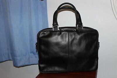 WANT Les Essentiels De La Vie Black Leather Computer Bag Made in Italy