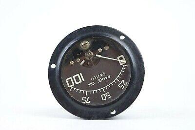 Vintage Rca 2.5 Panel Meter Range On Switch 0 To 100 White On Black Bkgrd