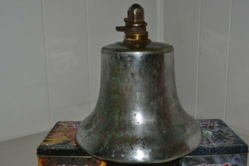 Vintage Fire Engine Metal Bell with Brass Clapper