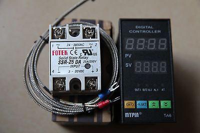 Digital Fc Pid Temperature Controller Thermostat Ta6-snr 2m K Sensor 25a Ssr