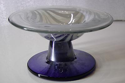 Murano Glas Glasschale kleine Schale blau 70er Jahre