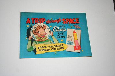 Borden's Elsie The Cow Comic A Trip Through Space Milk Dairy Promo 1960s NOS New