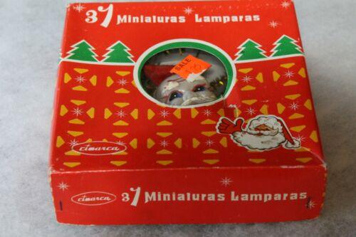 Vintage Christmas Santa Face Tree Top Topper 31 Lights - Gold Tinsel Foil -- Box