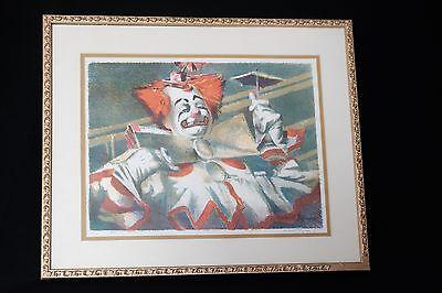 HERB RYMAN Signed Lithograph 1951 Circus Clown DISNEYLAND Disney Artist Herbert