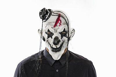 Horrorclown Maske mit Haaren Latex Psycho Clown Halloween Horror 129238613