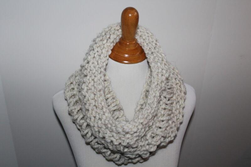 Chunky Hand Knit Unisex Drop Stitch Handmade Wheat Cowl Scarf Neck Warmer