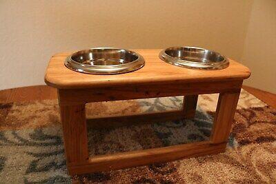 Raised Dog Feeder Large Breed - Handmade Wood