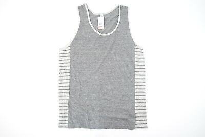 Alternative Apparel Lado Rayas Gris XL Camiseta de Tirantes Suave Hombre Nwt...