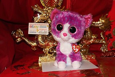 "TY BEANIE BOOS CHARLOT THE CAT.MEDIUM.9"".CLAIRE'S EXCLUSIVE.2017.MWNMT.NICE GIFT"
